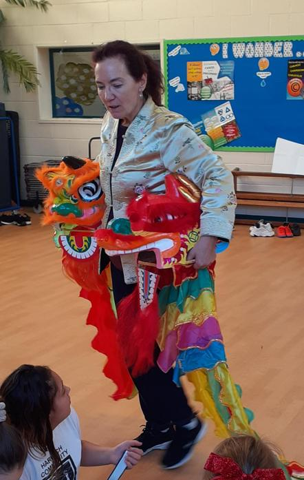 Year 6's Intro To The Dragon & Lion Heads!
