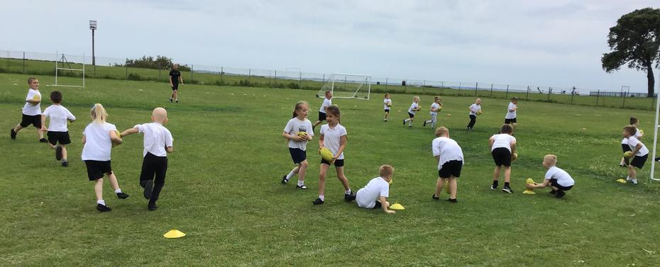 Practising Our Rugby Skills!