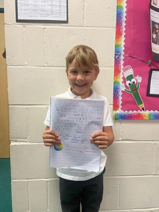 Wowee- the most fantastic vocab used in your story, Luca!