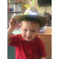 Here is Jake (Nursery) in his Easter Bonet!