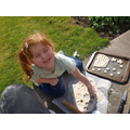 Sophie making salt dough