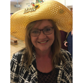 Thanks to Lorelei for lending Ms Barnes her hat!