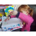 Sophie practising her mark making skills