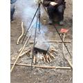 Charcoal baking