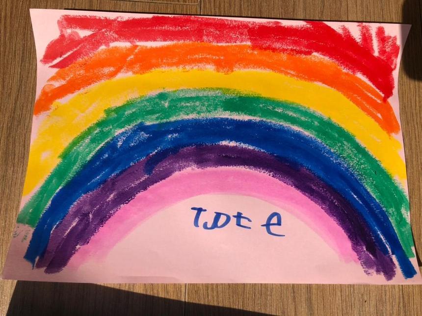 We drew a beautiful rainbow