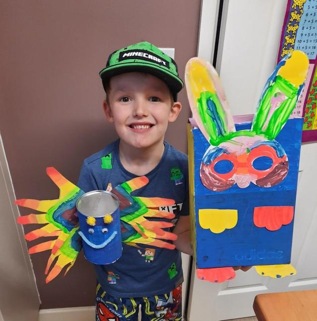 We made a super Easter bunny model