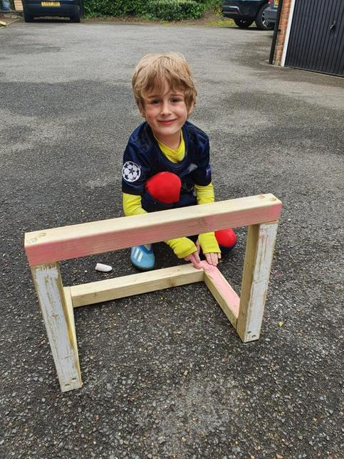 We have learnt about woodwork and made a goal