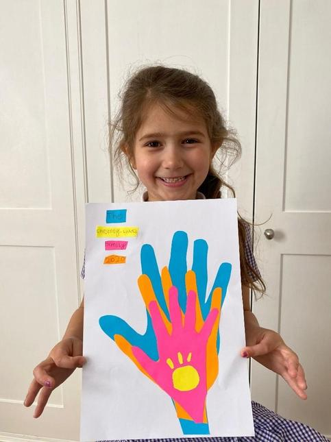 We made a picture from our handprints