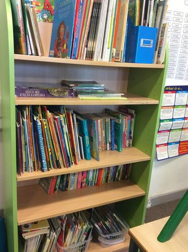 A huge variety of books on our self including newspapers and magazines!