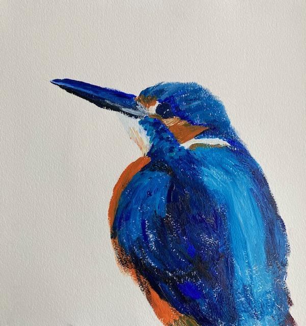 Mrs Voaden's kingfisher painting