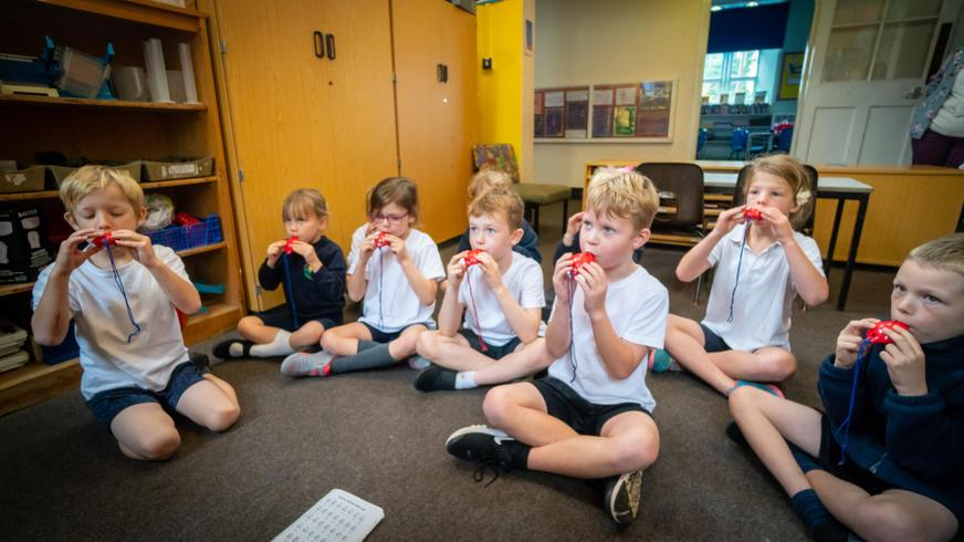 Whole class ocarina lessons year 2