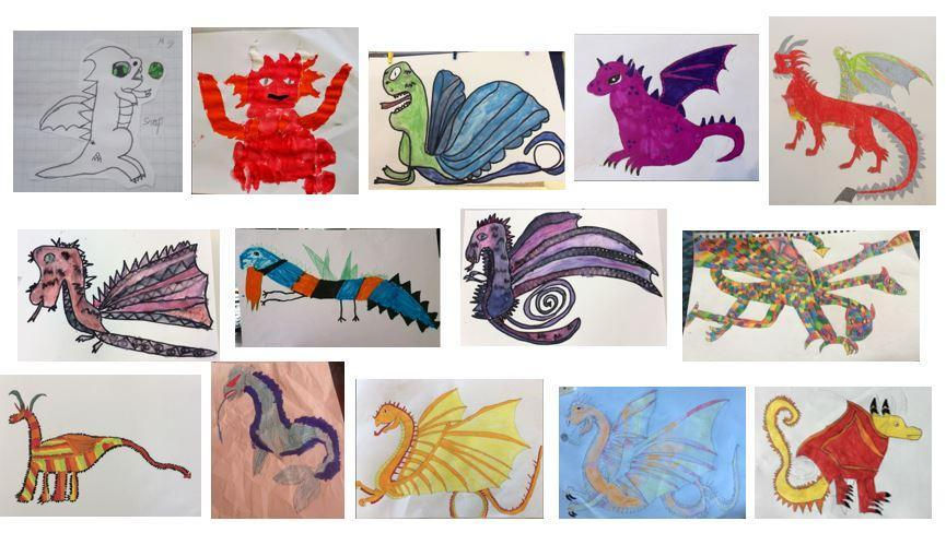 Our Dragons linked to our English work