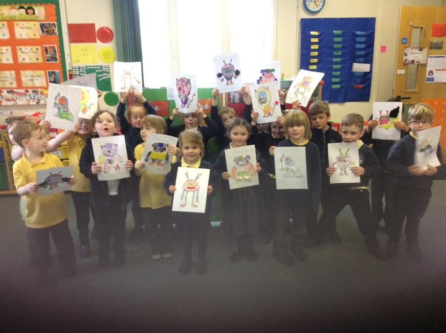 Look at our fantastic writing about monsters!