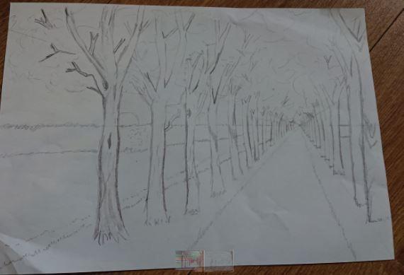 Vanesa's Creative Thursday perspective drawing