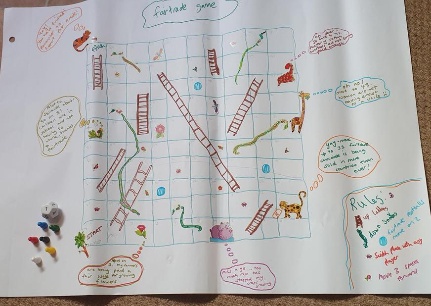 Martha designed her own Fair Trade game