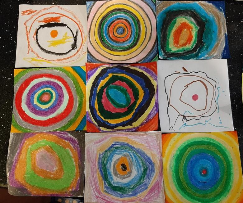 Working together as a family Kandinsky style