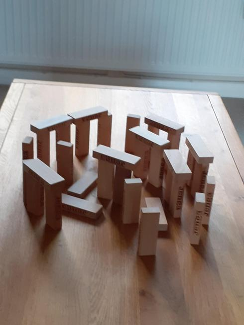Kacey's Stonehenge made from Jenga bricks