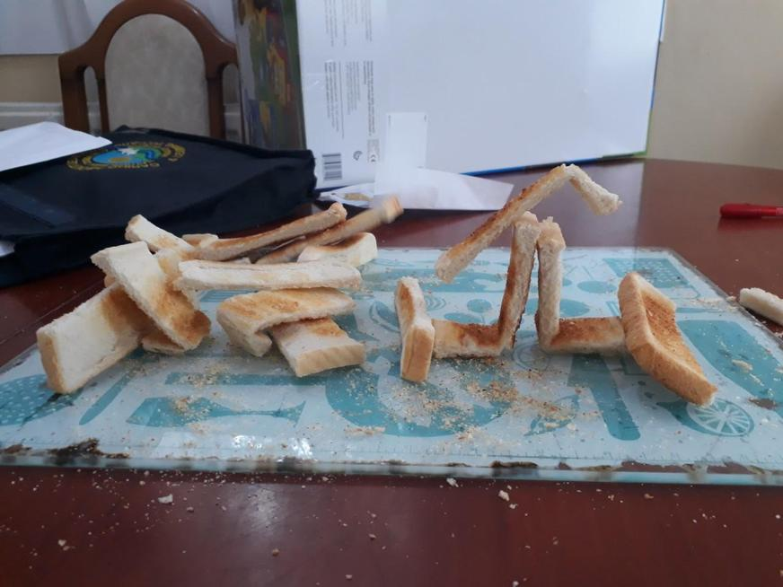 Michael created his using toast