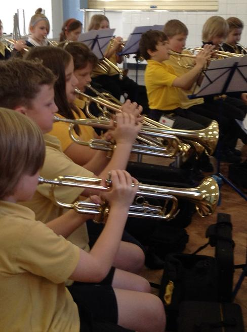 Whole class trumpet lessons
