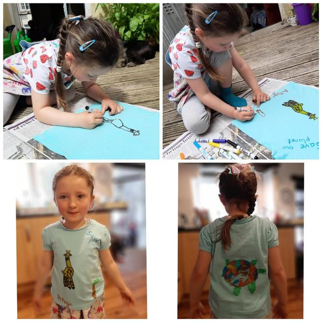 Up-cycling an old T-shirt