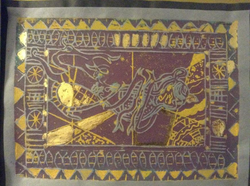 Viking inspired printing