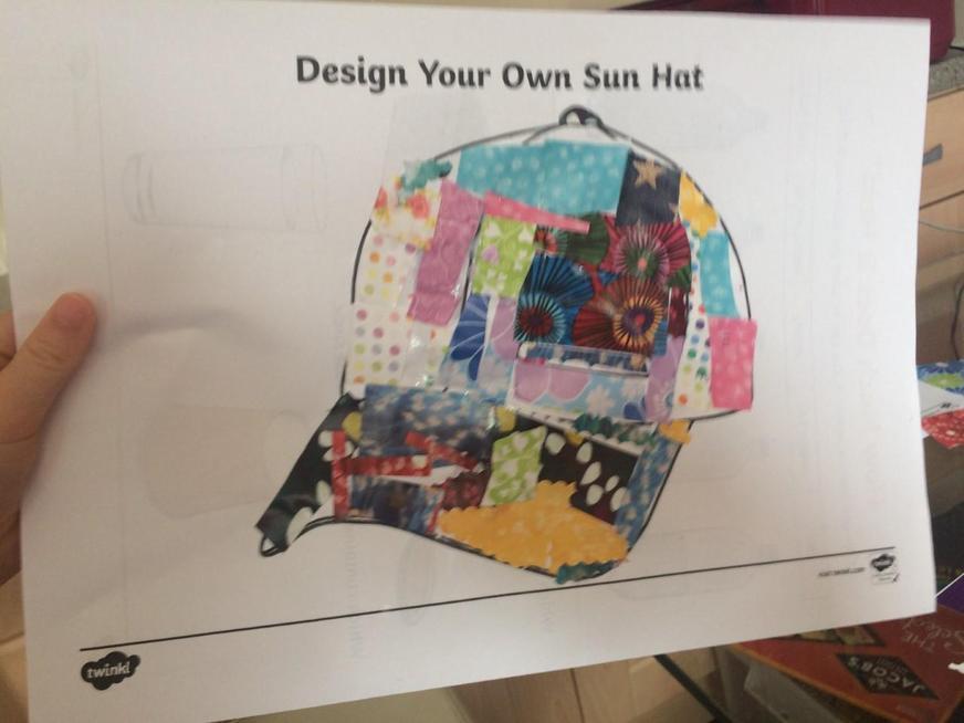 A brilliant design for a sunhat Dolcie.