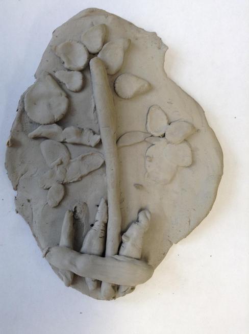 Joe's clay flower plaque