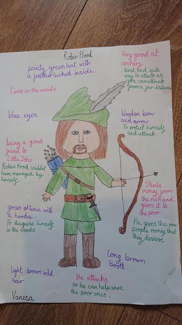 Vanesa's work studying Robin Hood.