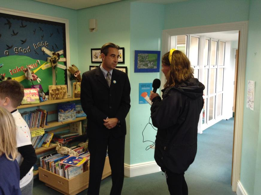 Interview with Radio Devon for Children in Need.