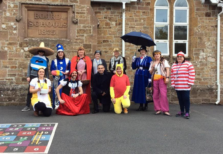 Some of the staff who dressed up today in school