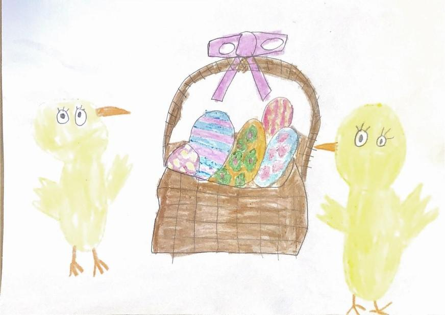 Amelia's Easter painting