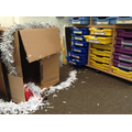 Friday mischief with shredded paper.