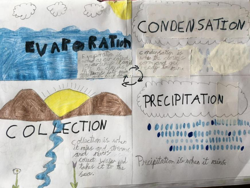 An informative Water cycle poster.
