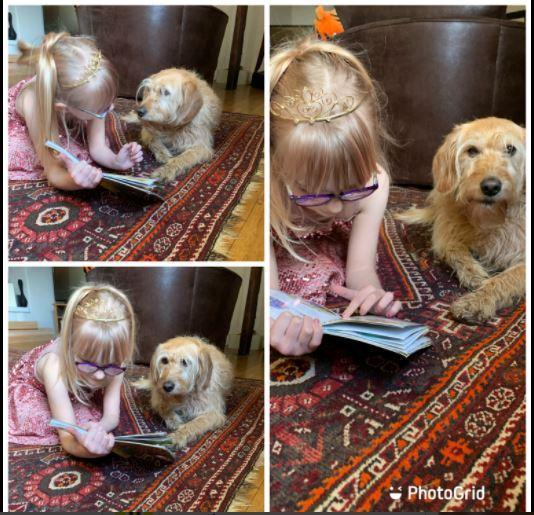 Sharing her book