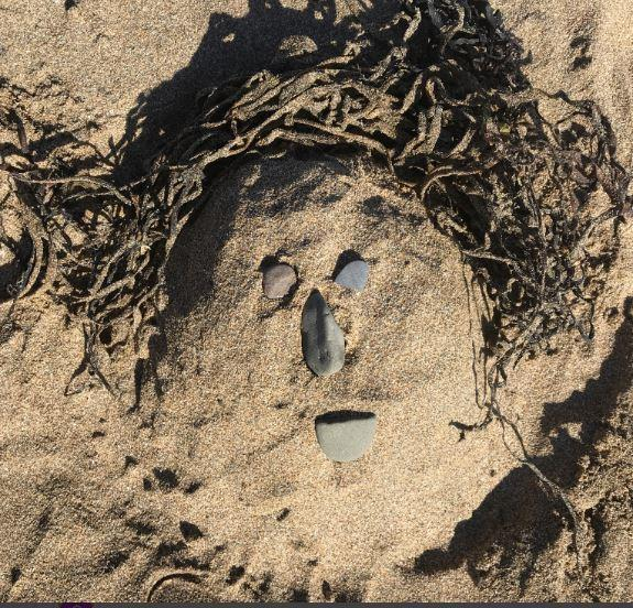 Portrait in the sand.