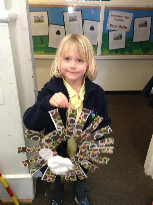 Years 1,2 and 3 are making Winter Wreaths