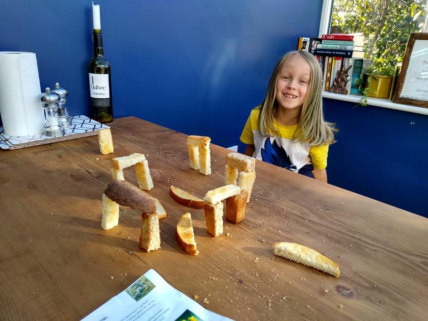 Creating Stonehenge with toast.