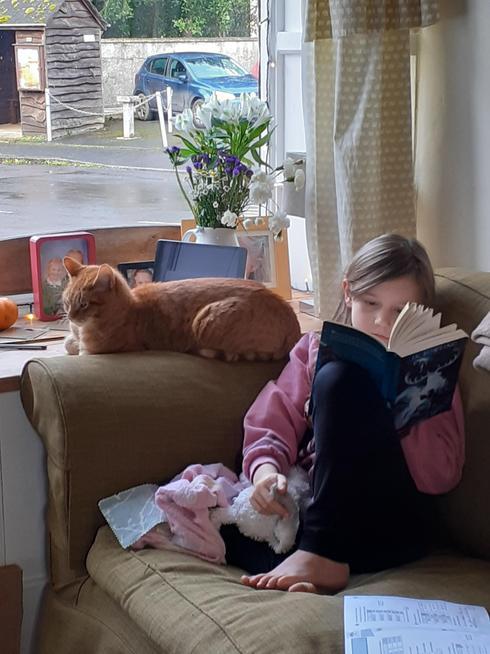 Reading with company