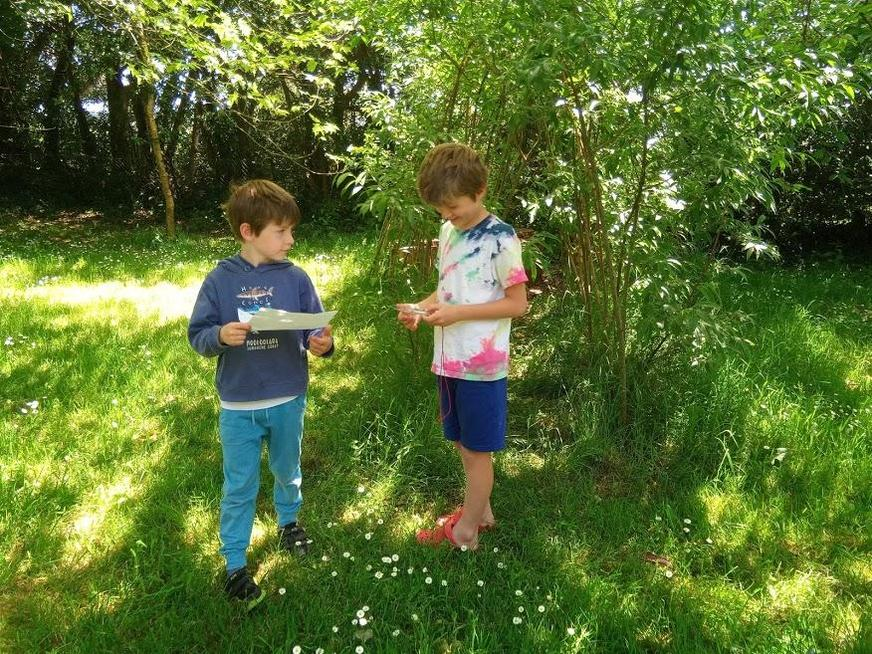 Great fun creating treasure hunts for each other