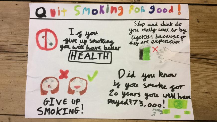 Quit smoking poster by Flo