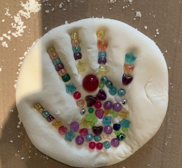 Salt dough hand print