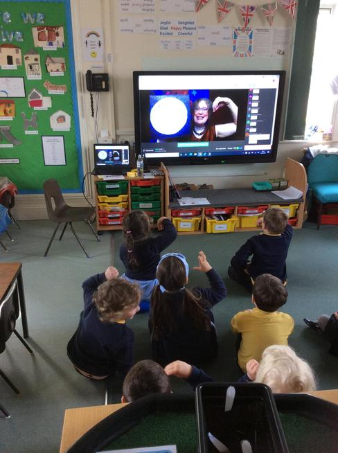 Chestnuts participated in a live science story telling session about the moon.