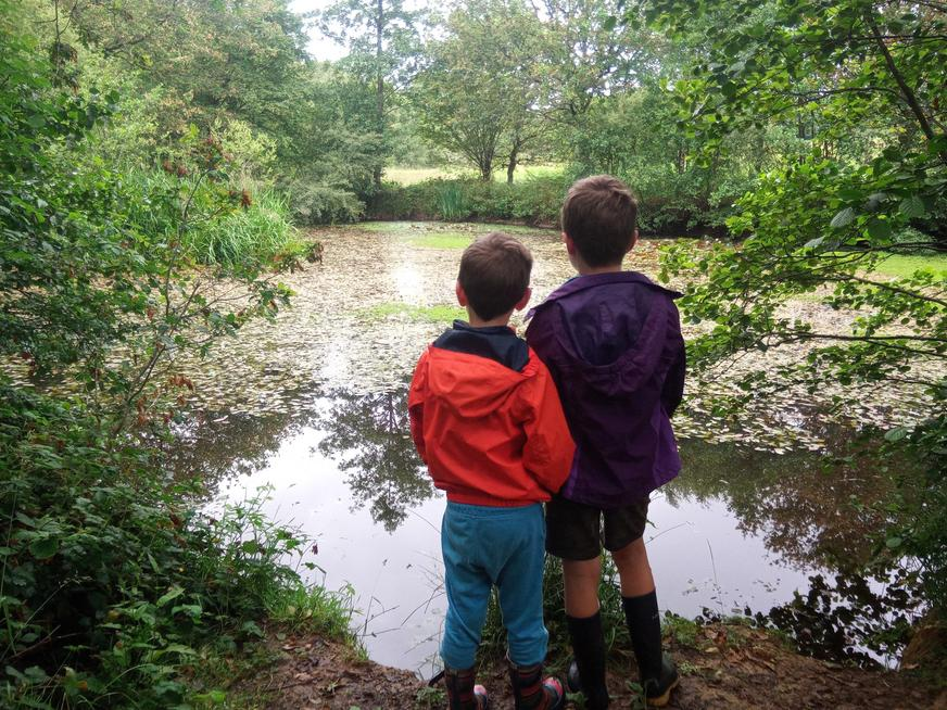 A walk to the pond after school hours.