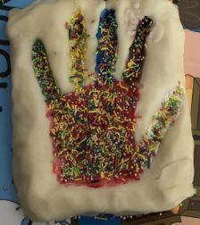pastry hand print