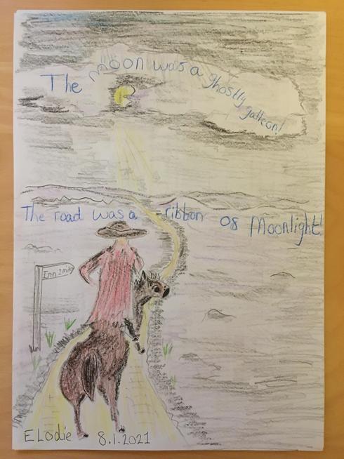 Elodie's artwork linked to The Highwayman