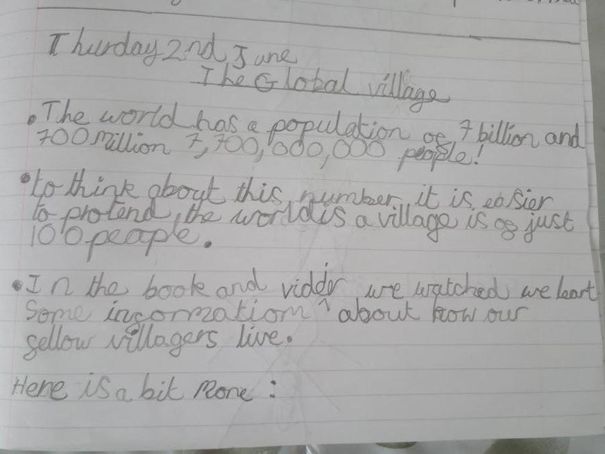 Writing about the Global village