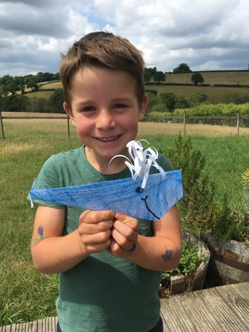 An super origami whale