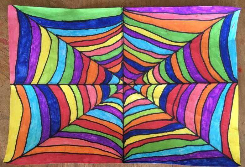 Creative spider web