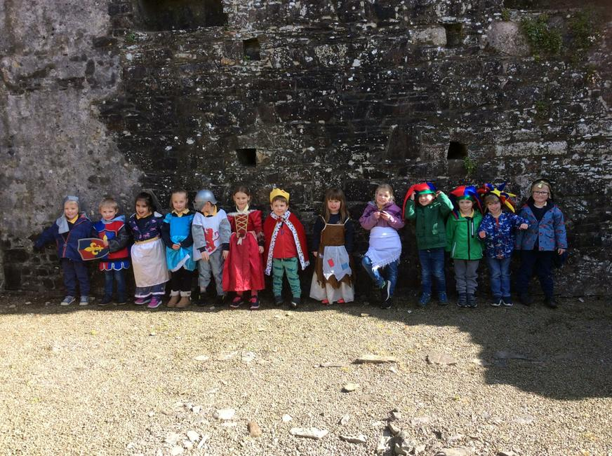 Role play of life in a castle