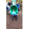 We even got Mrs King on the slide!